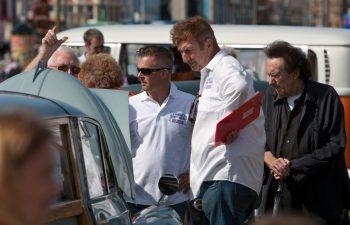 Judges admiring a classic car