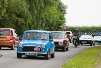 Classic cars and their owners enjoying the run