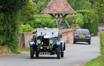 Classic car enjoying the run around the beautiful Norfolk countryside