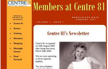 Centre 81 Newsletter - Issue 1